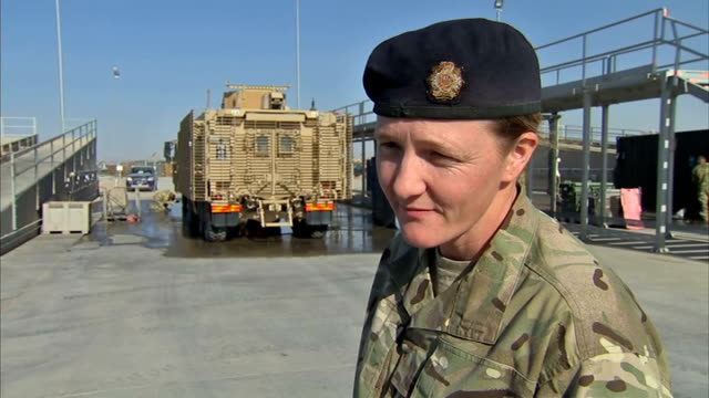 David Cameron visits Camp Bastion Interviews with unidentified British soldiers SOT