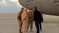 David Cameron visits Helmand Province and Camp Bastion AFGHANISTAN Camp Bastion EXT British Prime Minister David Cameron MP from RAF transport...