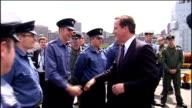 David Cameron visits HMS Ark Royal in Canada Davd Cameron chatting with Royal Navy sailors and officers on deck of HMS Ark Royal David Cameron...