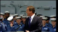 David Cameron visits HMS Ark Royal in Canada David Cameron speech continued SOT Public service is a vital part of our country I am here to say a very...