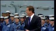 David Cameron visits HMS Ark Royal in Canada David Cameron speech continued SOT Sometimes the Royal Navy can feel forgotten in Afghanistan the Marine...