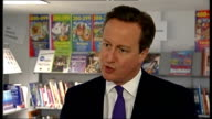 David Cameron visits school in Portsmouth David Cameron MP interview SOT On turning around failing schools / TV debates ahead of general election...
