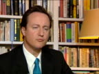 David Cameron's reaction to the European Union reform treaty ENGLAND London INT David Cameron MP interview SOT We will fight for a referendum / The...