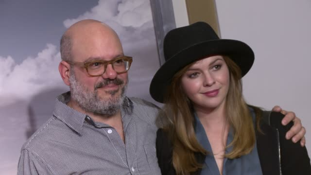 David Cross and Amber Tamblyn at the 'Better Call Saul' Series Premiere Screening at Regal Cinemas LA Live on January 29 2015 in Los Angeles...