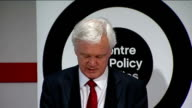 David Davis speech at Centre for Policy Studies David Davis MP speech SOT DELIVERY ** In my time working for a FTSE 100 company we always increased...