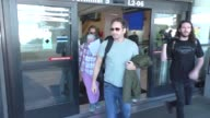 INTERVIEW David Duchovny talks about The XFiles while arriving at LAX Airport in Los Angeles in Celebrity Sightings in Los Angeles
