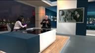 London GIR INT David Essex LIVE STUDIO interview SOT