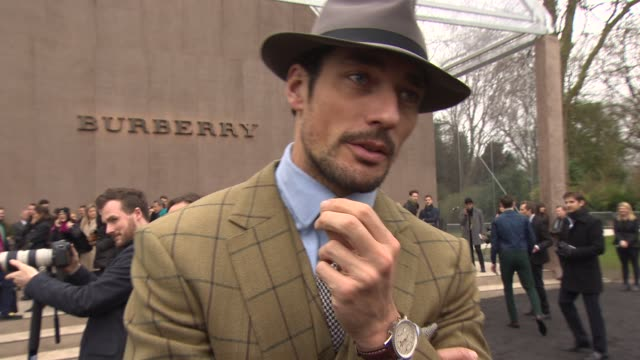 INTERVIEW David Gandy talks about his love of fashion men's collection vs women's collections on Christopher Bailey his reaction to the Topman Show...