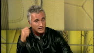 London GIR INT Ginola interview SOT Talks about famous former Tottenham footballers such as Paul Gascoigne Chris Waddle and Glenn Hoddle / Supporters...