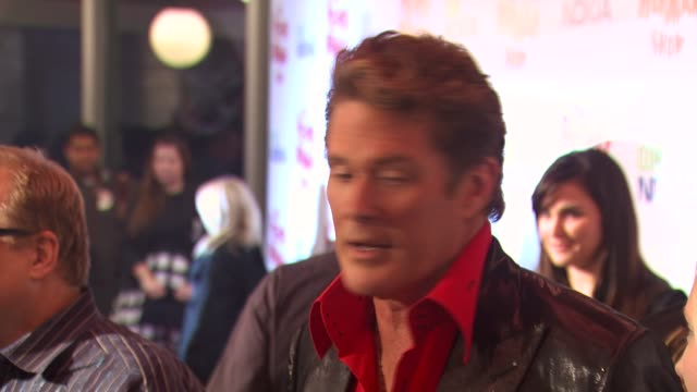 David Hasselhoff at the 'The Peewee Herman Show' Opening Night at Los Angeles CA