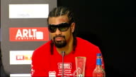 David Haye loses world heavyweight fight against Wladimir Klitschko David Haye into postmatch press conference David Haye postmatch press ocnference...