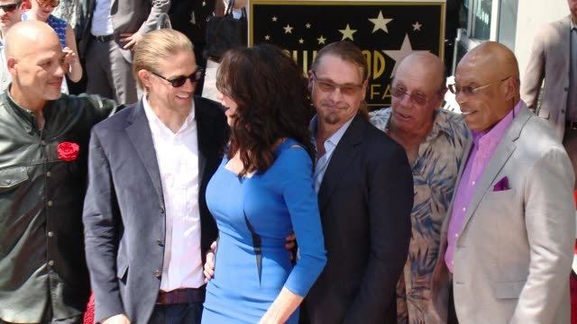 David Labrava Charlie Hunnam Katey Sagal Kurt Sutter Dayton Callie and Paris Barclay at Katey Sagal Honored With Star On The Hollywood Walk Of Fame...