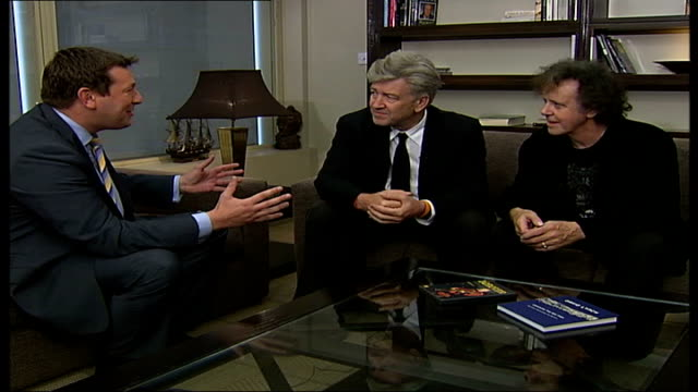 David Lynch and Donovan promote transcendental meditation in new stage show Interviews Donovan and Film Director David Lynch into room and taking...