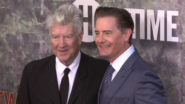 David Lynch and Kyle MacLachlan at The World Premiere of the new Showtime LimitedEvent Series 'Twin Peaks' at Ace Hotel on May 19 2017 in Los Angeles...