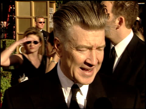David Lynch at the 2002 Golden Globe Awards at the Beverly Hilton in Beverly Hills California on January 20 2002