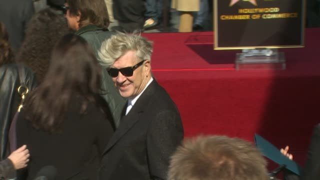 David Lynch at the Roy Orbison Honored Posthumously With A Star On The Hollywood Walk Of Fame at Hollywood CA