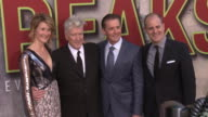 David Lynch Kyle MacLachlan Laura Dern and David Nevins at The World Premiere of the new Showtime LimitedEvent Series 'Twin Peaks' at Ace Hotel on...