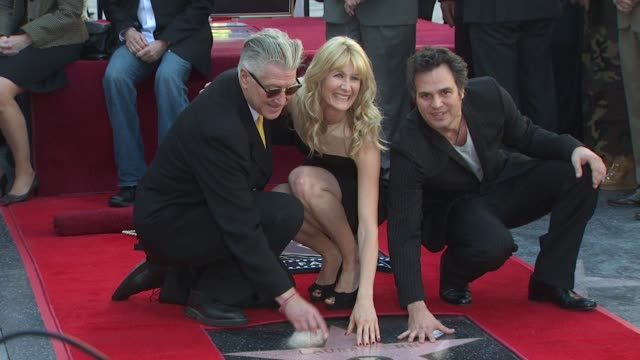 David Lynch Laura Dern and Mark Ruffalo at the Bruce Dern Laura Dern and Diane Ladd Honored at the Hollywood Walk of Fame at Hollywood CA