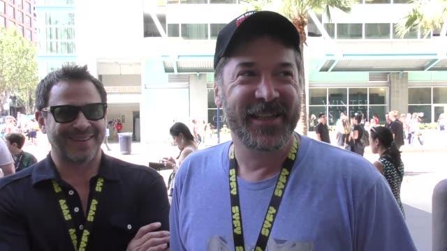 INTERVIEW David Michael Latt and David Rimawi on 'Sharknado 5 Global Swarming' at Celebrity Sightings at San Diego ComicCon International on July 22...