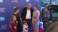 David Riker and his family with Abbie Cornish at 'The Girl' Premiere 2012 Tribeca Film Festival at SVA Theater on April 20 2012 in New York New York