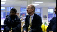 David Willits visits sixth form students at London school ENGLAND London Quintin Kynaston School INT Varous of David Willetts MP meeting and in...