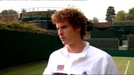 Great Britain v Austria Press conference Andy Murray interview SOT