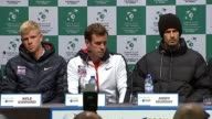 Ghent LETTERBOXED*** Dominic Inglot Kyle Edmund Leon Smith Andy Murray James Ward and Jamie Murray press conference SOT