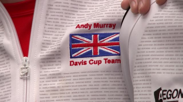 London INT Closeup Davis Cup trophy / General views Davis Cup / Closeup inscriptions on cup / Andy Murray James Ward Jamie Murray Kyle Edmund Dominic...