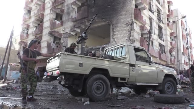 A dawn car bombing claimed by the Islamic State group hit the finance ministry of the Saudi backed Yemeni government on Wednesday killing two guards...