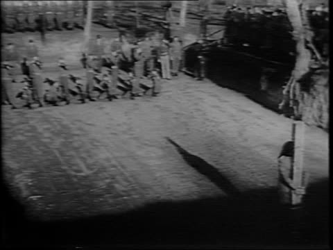 Dawn in Aversa Italy/ Nazi officer Anton Dostler faces firing squad of Allied forces crime was ordering death of 15 US Office of Strategic Services...