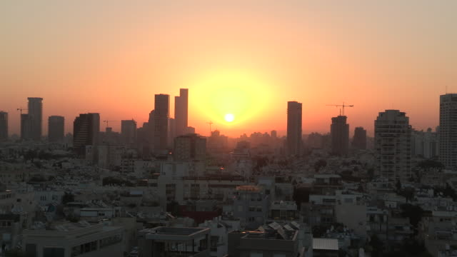 Dawn over Tel Aviv, Israel