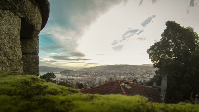 Dawn timelapse of Vigo, Spain