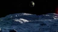 Sonnenaufgang Zeitraffer der Mond mit lensflare