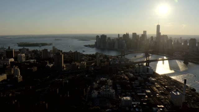 Day Aerial of New York City Manhattan USA