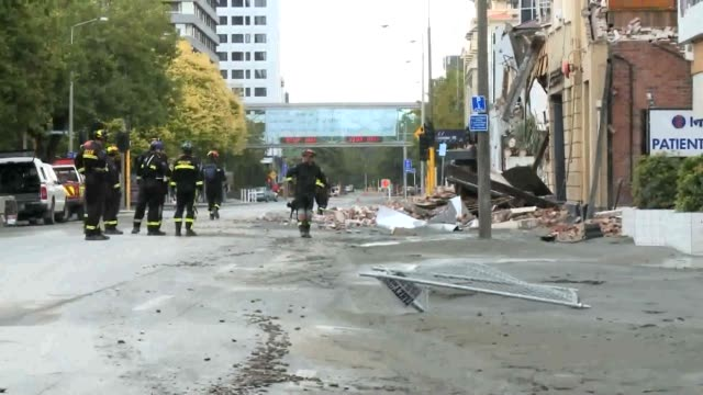 A day after a 63magnitude earthquake hit Christchurch emergency services have cordoned off the city's centre as rescue teams continue their desperate...