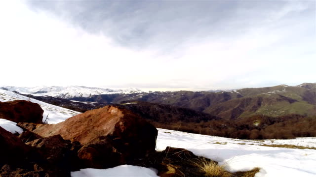 Day time lapse in mountains