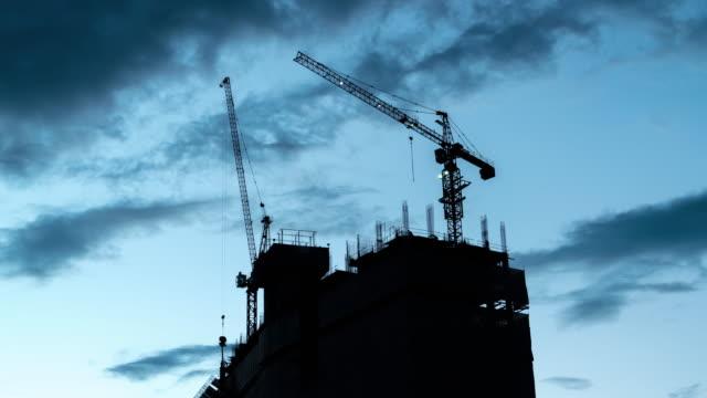 Tag bis Nacht Baustelle Zeitraffer