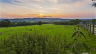 Day to night motion controlled time lapse footage of sunset over North Wales rural landscape at Welshpool.