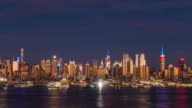 Day to night time lapse of Midtown New York City skyline
