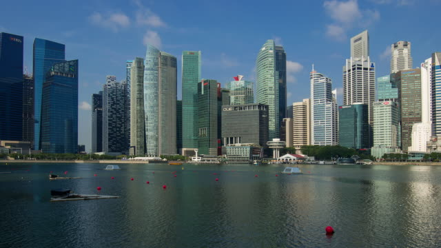 Day to night time lapse of Singapore waterfront