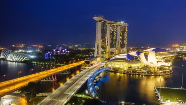 Day to night time lapse, Singapore
