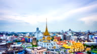 Day to Night Timelapse of Bangkok city of temple