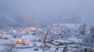 4 K giorno alla notte, Time-lapse : Shirakawago, Chubu Mondo Patrimonio Giappone