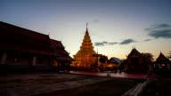 Day to Night: Wat Phra Thad Hariphunchai Temple