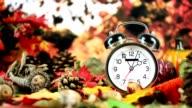 Sommer-und Winterzeit.  Zeit 02:00 Uhr im Herbst.