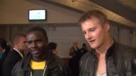 Dayo Okeniyi and Alexander Ludwig on the event at Nickelodeon's 25th Annual Kids' Choice Awards on 3/31/2012 in Los Angeles CA