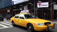 CPOV / SIDE / REAR VIEW / Daytime Driving Through Manhattan / New York City / NY NY