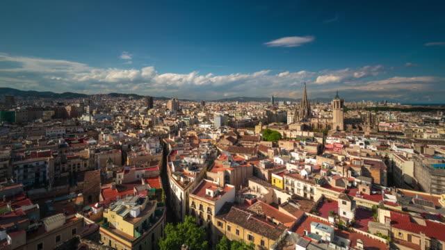 Daytime Timelapse of Barcelona Skyline