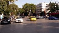 Daytime urban traffic timelapse