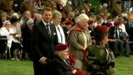Ceremony near Pegasus Bridge Clergyman speaking during ceremony SOT We are gathered here today to remember those men of the Oxfordshire and...